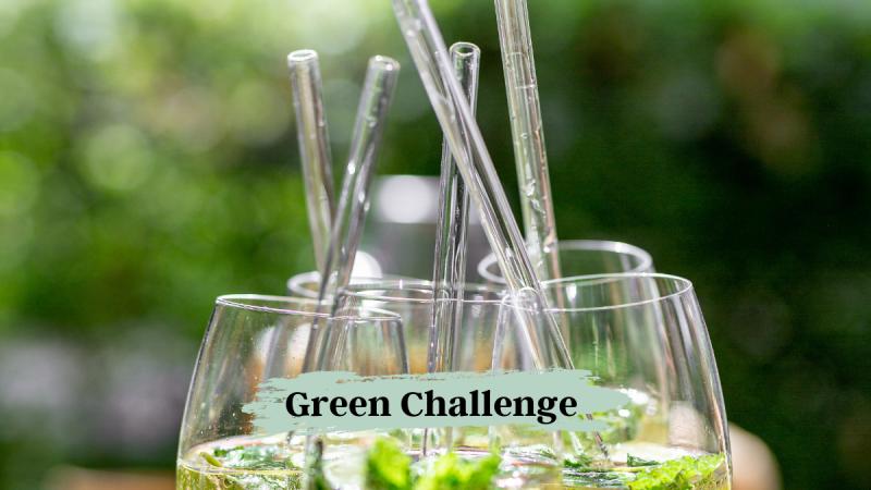 Green Challenge Strohhalm